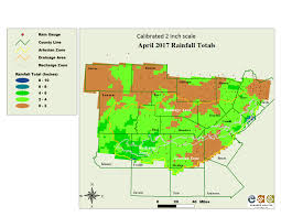 Rainfall Totals Map Edwards Aquifer Authority Monthly Calibrated Rain Maps