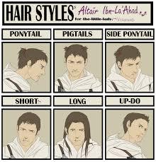 hair style meme altair by cuine on deviantart