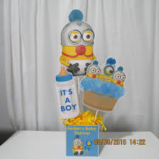 minion centerpieces it s a boy baby minion centerpiece