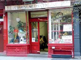 eight old fashioned nyc butcher shops worth visiting on display the center of attention is a giant hunk of beef resting on a free standing butcher block so crazed with cuts the meat sinks deeply into it