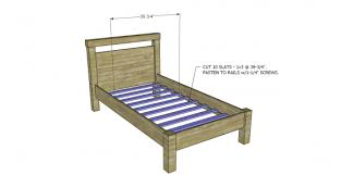 Free Platform Bed Frame Plans by Free Diy Furniture Plans To Build A Land Of Nod Oak Park