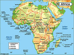 africa continent map africa continent elevation digital map from maps