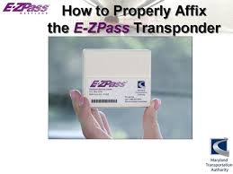 Maryland travel pass images E zpass transponder installation JPG