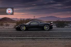black porsche 918 black porsche 918 spyder with weissach pack gets hre wheels
