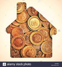 Shape Of House Money In The Shape Of A House Money House Stock Photo Royalty