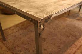 wood table metal legs design boundless table ideas