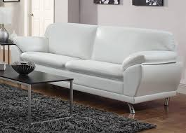 White Leather Living Room Set Decorating Modern White Leather Furniture Real White Leather Sofa