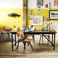 Featuring A Butterfly Mechanism That Expands It Up To  Wide - West elm emmerson industrial expandable dining table
