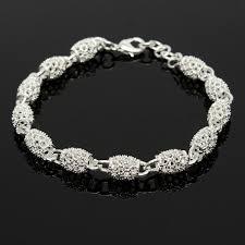 sterling silver bracelet beads charms images 925 sterling silver plated beads charm chain bracelets for women JPG
