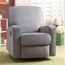 furniture black swivel rocker glider recliner chair and ottoman