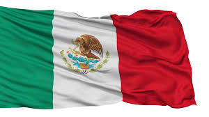 Mexico Flags Mexico Flag Realistic Animation Isolated On White Seamless Loop