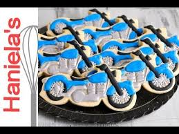 Decorating With Royal Icing How To Decorate Motorcycle Cookie With Royal Icing Tissue Paper
