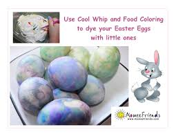 dye easter eggs with cool whip and food coloring momeefriendsli