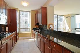 Design Ideas For Galley Kitchens Small Galley Kitchen Design In Walnut Color The Best Colors For