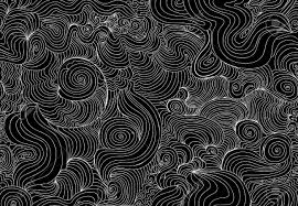 beautiful abstract wavy seamless texture with white curling lines
