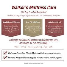 Comfort Furniture Spokane Walker U0027s Furniture Mattress 120 Day Comfort Guarantee Spokane