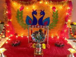 Home Temple Decoration Ideas 61 Best Janmashtami Decoration Ideas Images On Pinterest Krishna