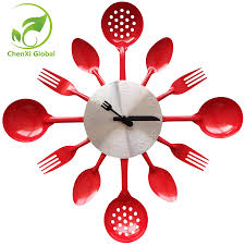 modern kitchen tools creative modern kitchen accessaries wall clock knife fork needle