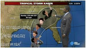 Karen Walker Meme - tropical storm karen walker oh honey imgur