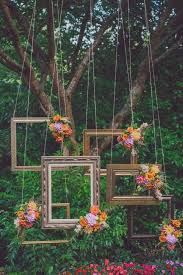 wedding backdrop frame vintage picture frame with flower wedding backdrop decor deer