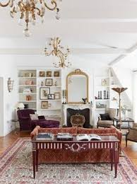 Parisian Living Room Decor Romantic Pink Accents In The Living Room With A Picture Perfect