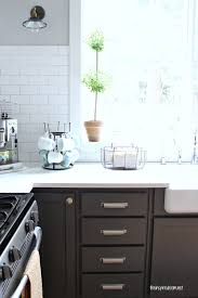 black kitchen cabinet knobs kitchen cabinet colors before u0026 after the inspired room
