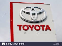 toyota car logo toyota car dealership sign uk stock photo royalty free image