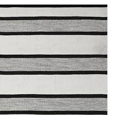 Indoor Outdoor Rug Perennials Awning Stripe Indoor Outdoor Rug Black Williams Sonoma