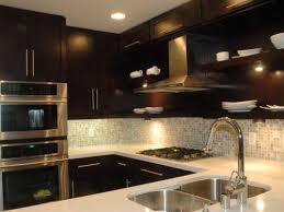 Kitchen Cabinet Backsplash Ideas Appealing Kitchen Backsplash With Dark Cabinets Best Ideas About