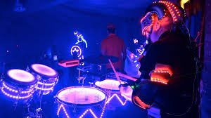 Drum Set Lights Led Robot Drummer With Led Drum Set In Miami Florida Youtube