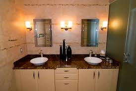 bathroom ideas white vanity with painted cabinet front lights over