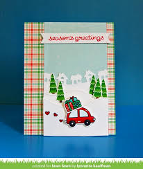 home for the holidays town border card by lynnette for