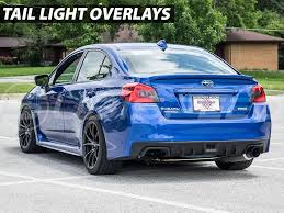 yellow subaru wrx tail light blackout tinted overlay smoked red yellow 2015