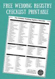 bridal registry ideas list free printable wedding registry checklist dj photos wedding dj