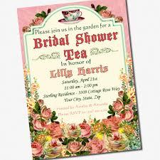 Bridal Shower Invitation Cards Samples Vintage Tea Party Bridal Shower Invitations Dhavalthakur Com