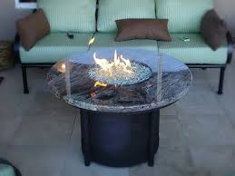 round propane fire pit table propane fire table hidden tank