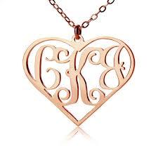 Initial Monogram Necklace 10 Best Rose Gold Monogram Necklace Images On Pinterest Monogram