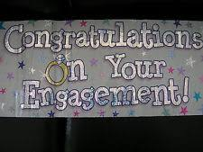 congratulations engagement banner engagement party banners buntings and garlands ebay