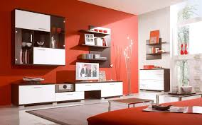 white and red dining room wall color ideas with leather sofa