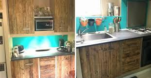 cuisine en palette d une cuisine en bois de palette