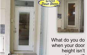 Back Exterior Doors How To Accommodate A Non Standard Height Exterior Door