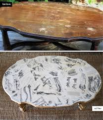 Table Top Ideas Mr Kate Diy Home Book Decoupaged Coffee Table