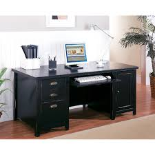 Home Office Computer Desk Kathy Ireland Home By Martin Tribeca Loft Black Pedestal Computer