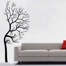 wall decals half winter tree wall stickers