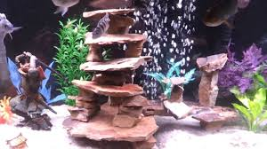 how to make fish tank decorations at home home made slate structure cichlid tank aquarium youtube