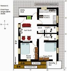 South Facing House Floor Plans My Little Indian Villa 16 R9 2bhk In 30x40 West Facing