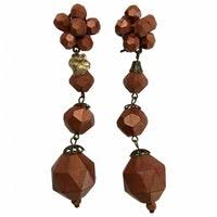 angela caputi earrings brown plastic angela caputi earrings vestiaire collective
