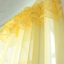 Yellow Ruffle Curtains by Custom Made Ruffle Sheer Curtain Set Yellow