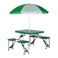 picnic tables folding with seats picnic table with umbrella stansport com