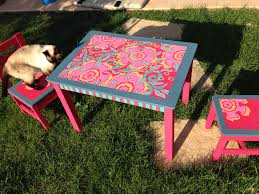 children s outdoor table and chairs chalk paint on old ikea kids table chairs fun stuff pinterest